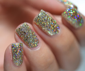 glitter, nail lacquer, and gold image