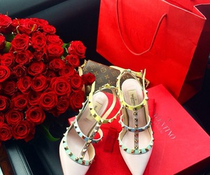 roses, Valentino, and flowers image