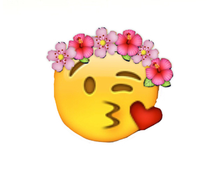 flowers, smiley, and emojis image