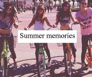 memories, summer, and bike image