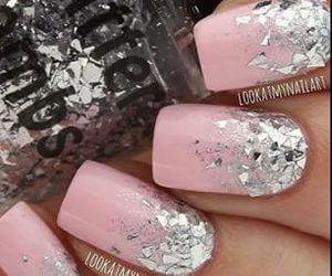 nail art, pink, and sparkles image