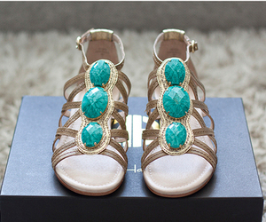 shoes, sandals, and blue image