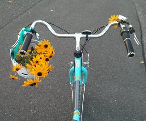 flowers, bike, and grunge image