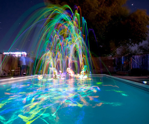 pool, light, and colorful image