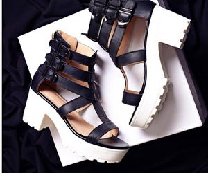 black, festival, and heels image