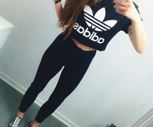 adidas, girl, and 😍 image