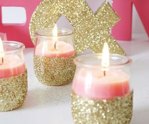 candle, diy, and glitter image