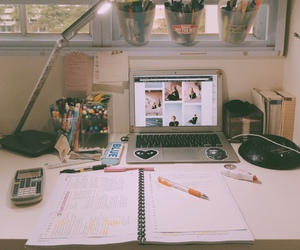 study, room, and school image