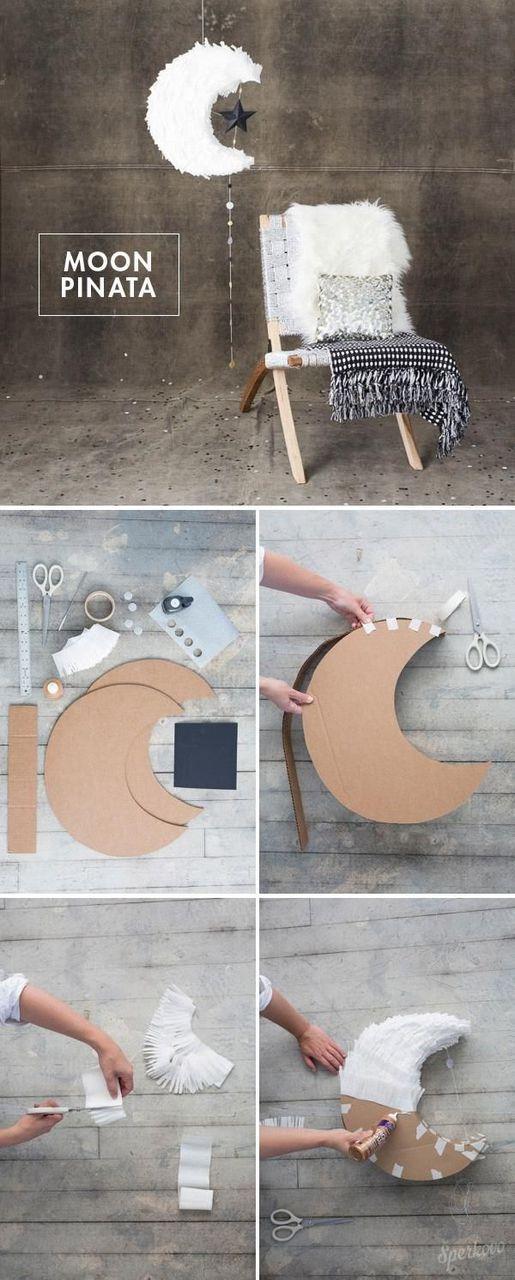 diy, moon, and pinata image