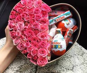 kinder, rose, and flowers image