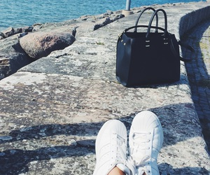 adidas, bag, and beach image