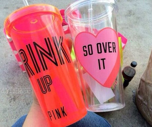 pink, drink, and cool image