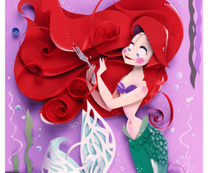 ariel, paper craft, and nathanna erica art image