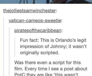 funny, orlando bloom, and pirates of the caribbean image