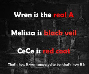 black veil, Melissa, and red coat image