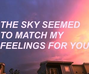sky, love, and grunge image