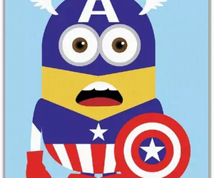 minions, captain america, and despicable me image