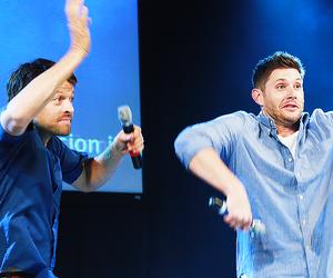 Jensen Ackles, misha collins, and supernatural image