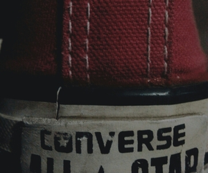 converse, red, and tumblr image