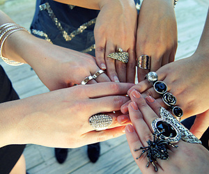 rings, girls, and fashion image