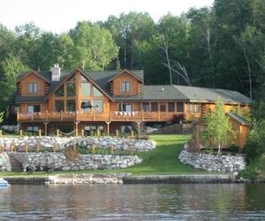 home, lake, and luxury image