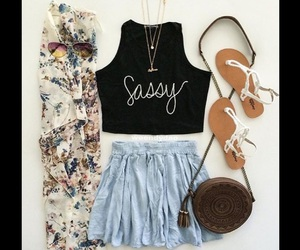 outfits, fashion, and floral print image