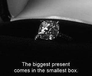 ring, diamond, and present image