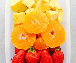 fruit, orange, and strawberries image