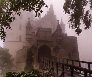 castle, fog, and bridge image