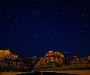 sky, mountains, and night image