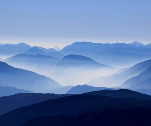 beautiful, blue, and mountains image