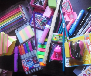 pens, pink, and school image