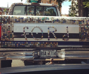 Bottle caps, ford, and trucks image