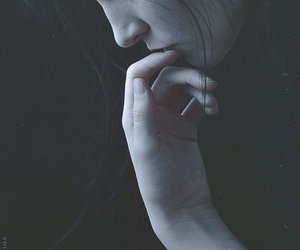 girl, dark, and photography image