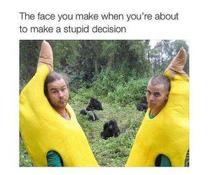 banana, funny, and stupid image