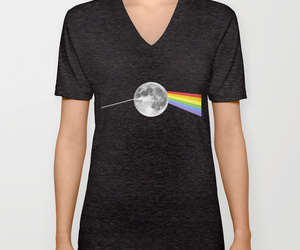 black and white, dark side of the moon, and Pink Floyd image