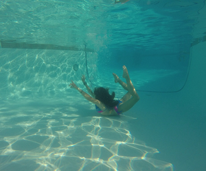 photography, underwater, and pool image