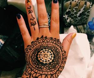 art, henna, and tattoo image