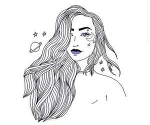 galaxy, girl, and tumblr image