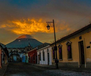 atardecer, guatemala, and tribal image