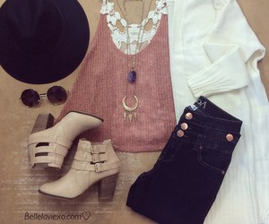 boots, cardigan, and fashion image