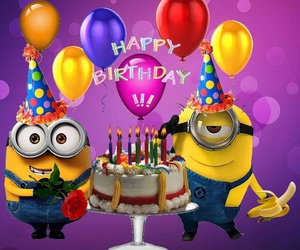 minions, birthday, and funny image