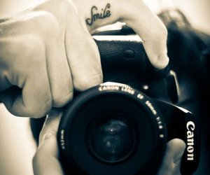 smile, photography, and tattoo image