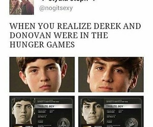 donovan, derek hale, and hunger games image