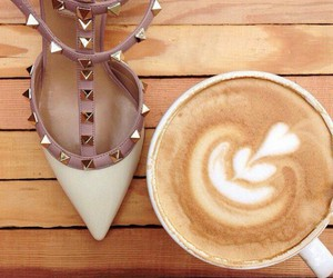 coffee, shoes, and heels image