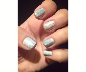 grunge, holographic, and nails image