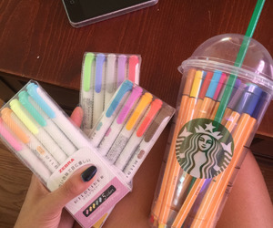 starbucks and pens image