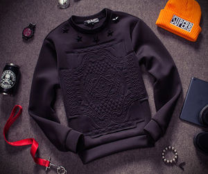 long sleeve, hoodie, and mens clothing image