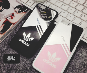 adidas, black, and pink image