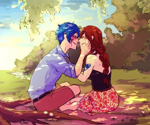 anime, fairy tail, and jerza image